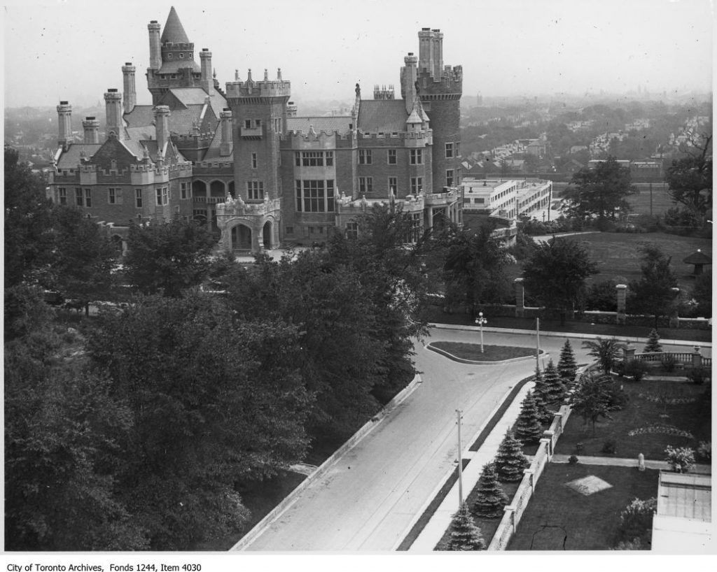 View of Casa Loma from tower of stables. - [ca. 1920]