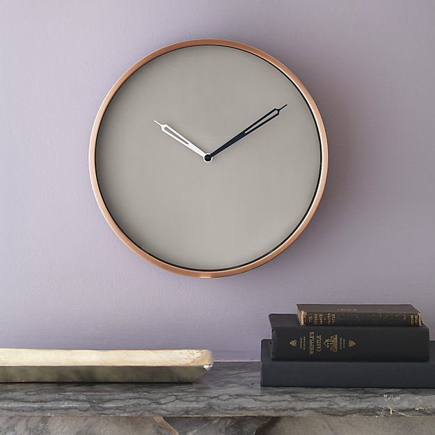 copper-wall-clock