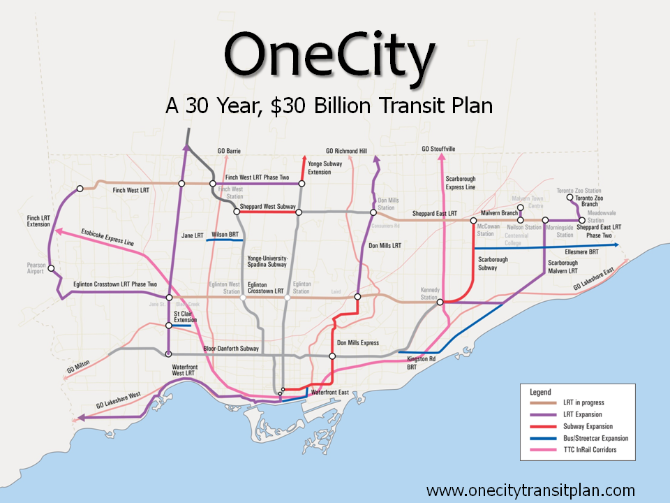 one city toronto transit