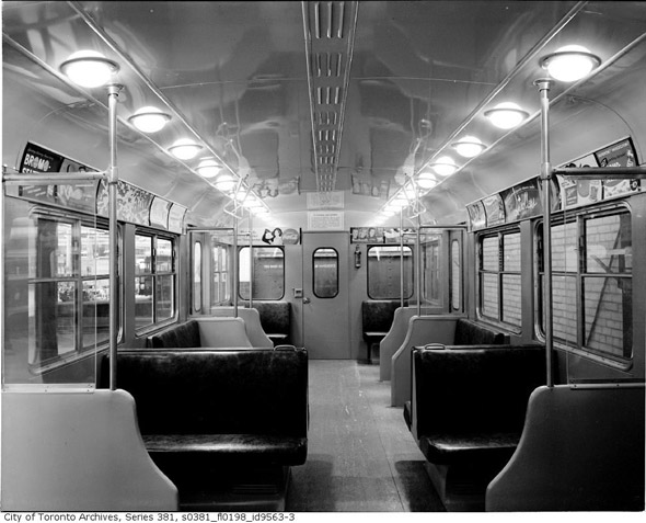 Yonge and Eglinton Subway car