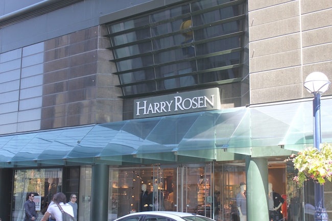 Shopping in Yorkville Toronto at Harry Rosen