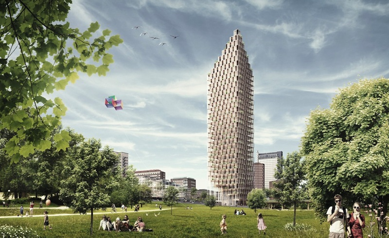 Wood Skyscraper Planned for Stockholm (2)