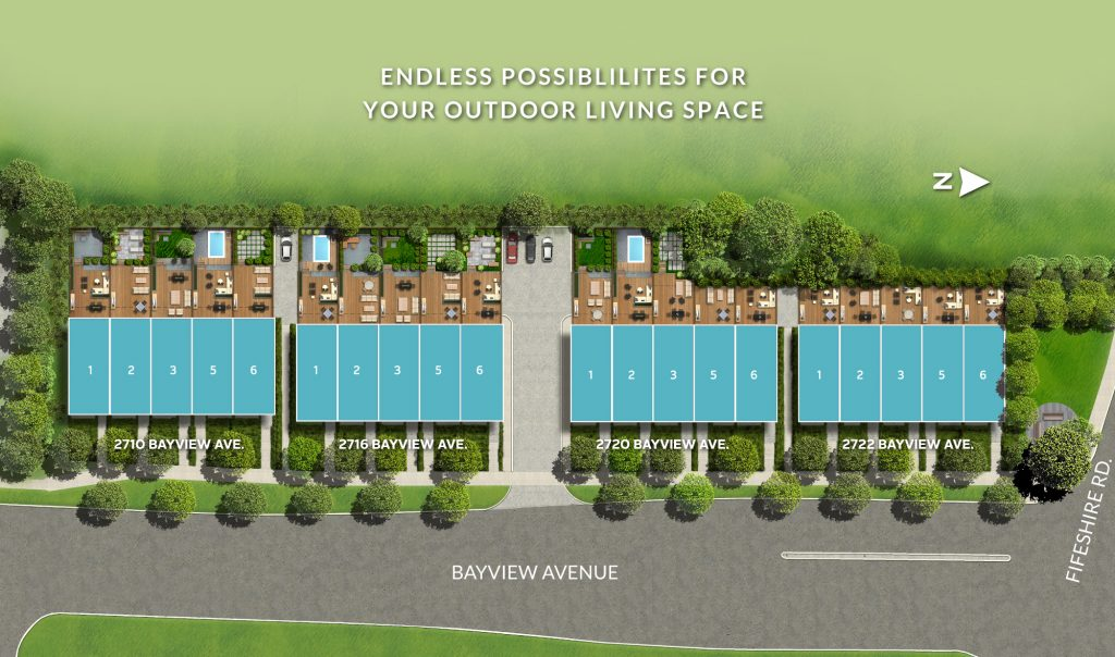 Estates on Bayview siteplan