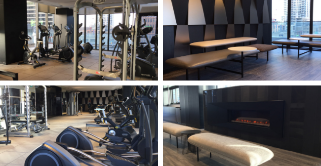 eCondos fitness and lounge rooms