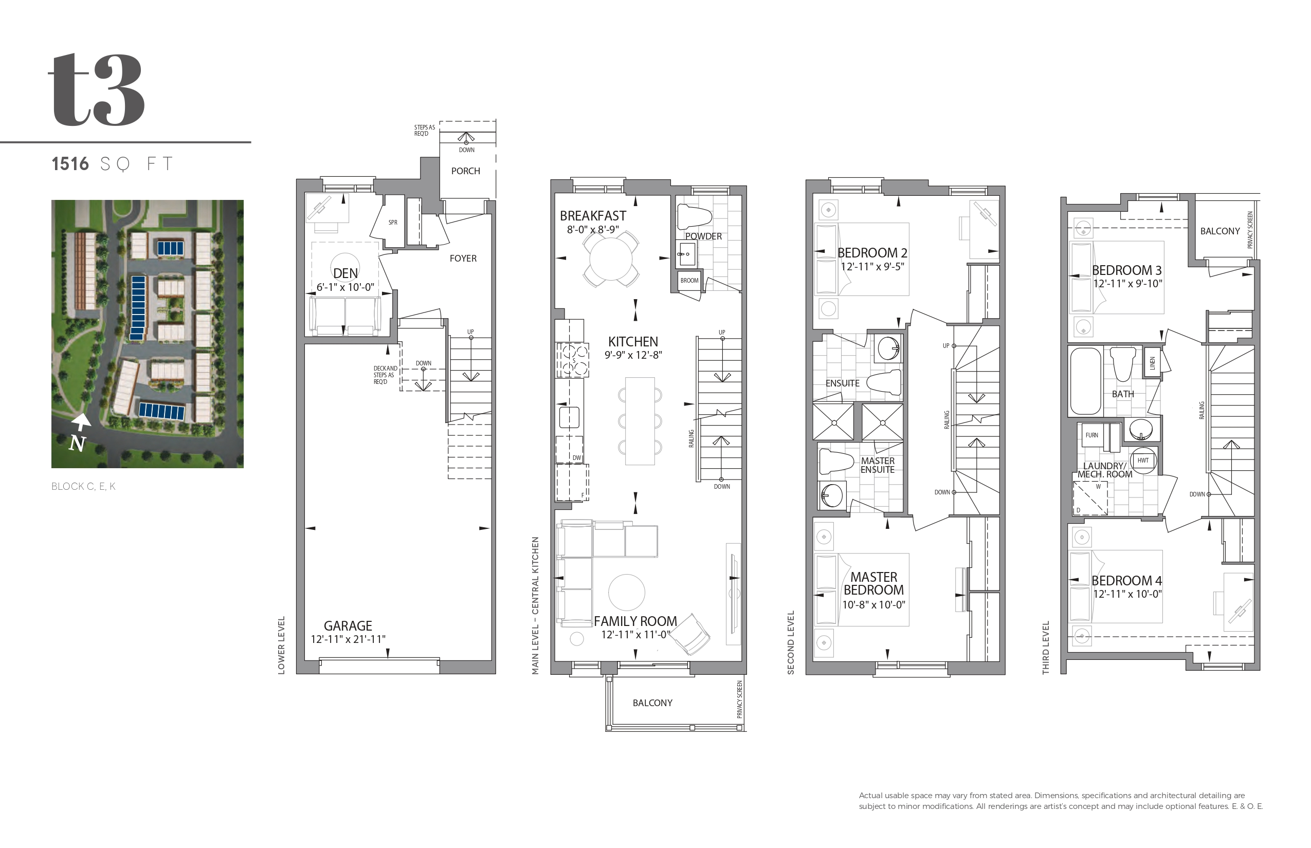 Bartley Towns Floor Plans