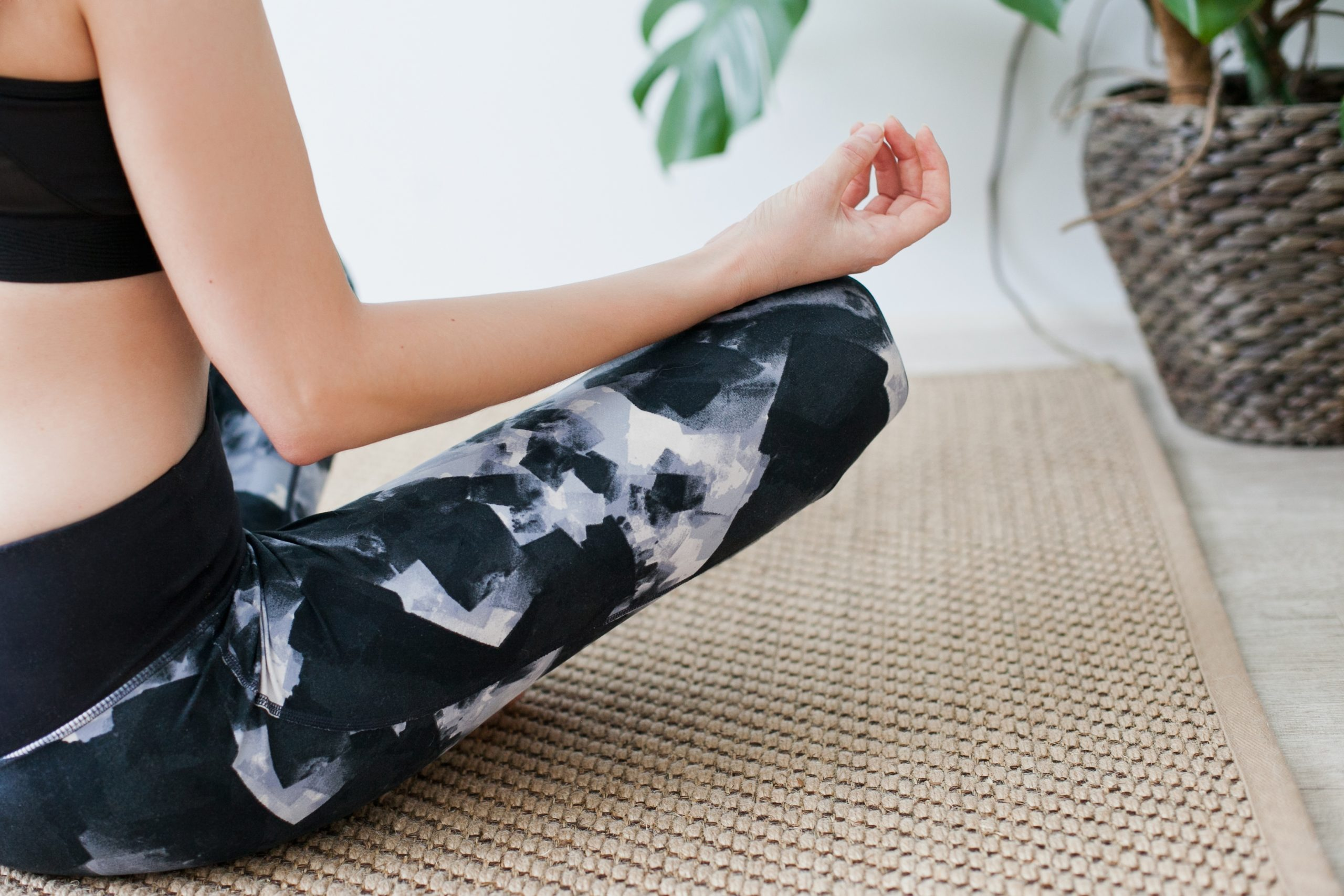 girl sitting doing yoga