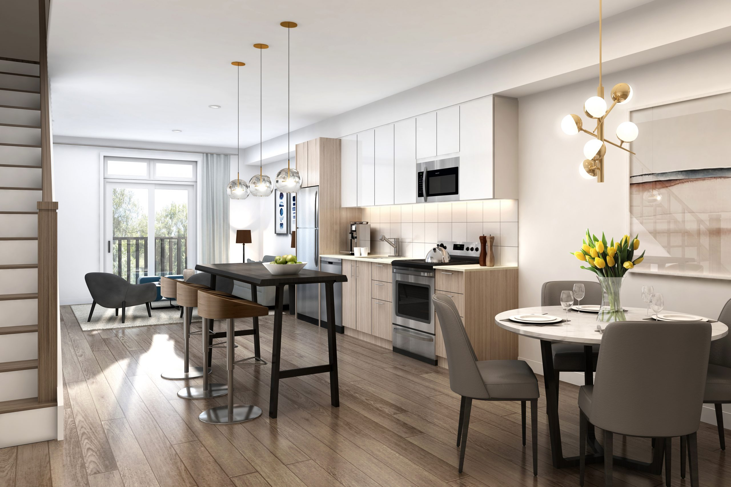 interior of bartley townhomes